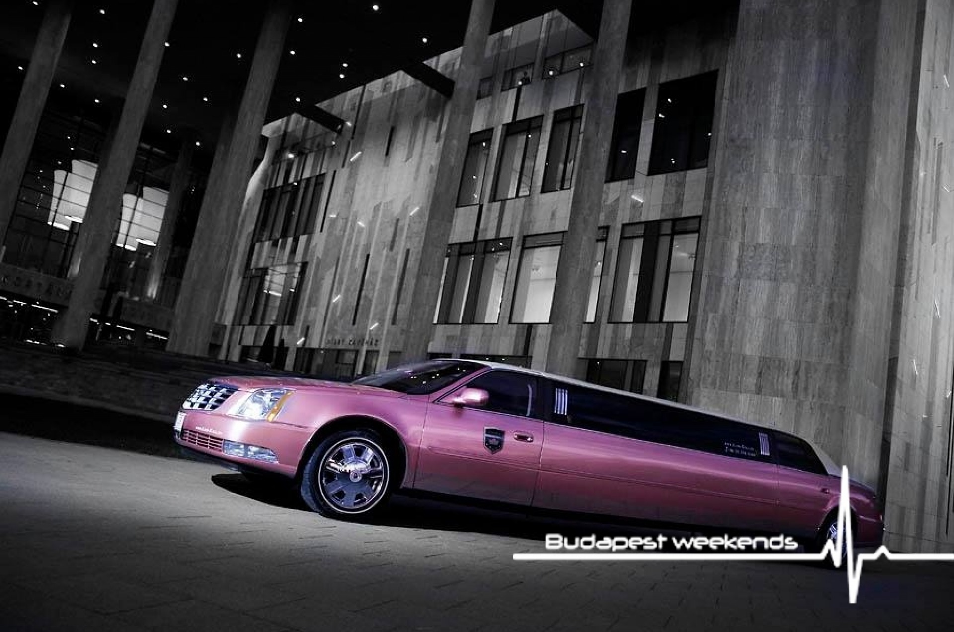 Budapest Pink Limo for hen party
