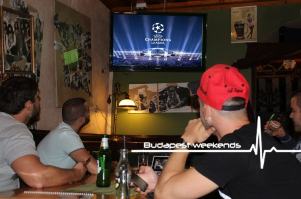 burger beer football watching budapest